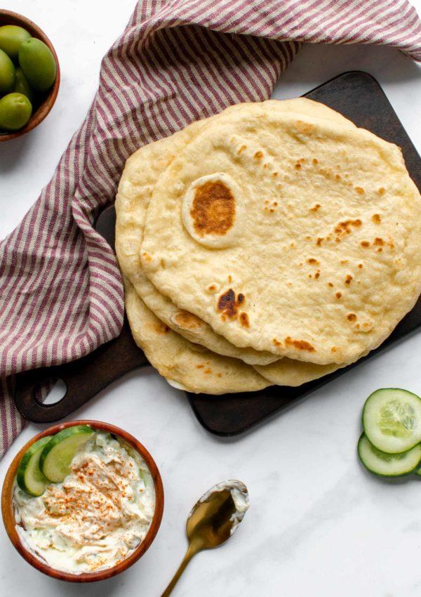 Greek Pocketless Pita Bread