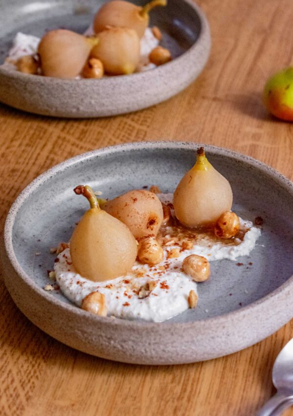 Poached Bambinella Pears