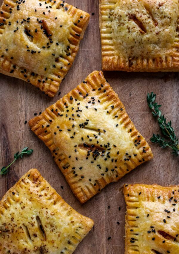 Leek, Mushroom and Feta Hand Pies