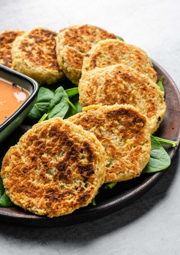 Red Lentils and Potato Fritters
