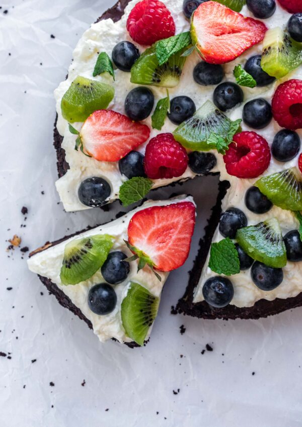 Brownie Pizza Cake