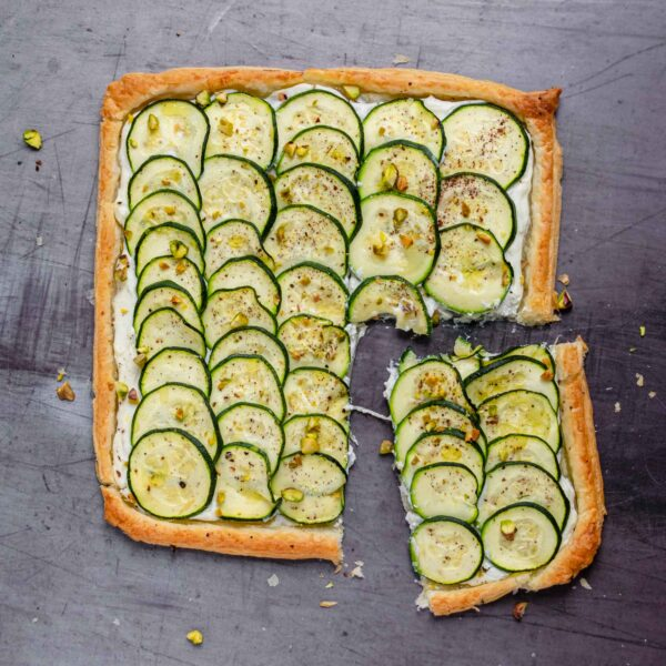 Zucchini and Whipped Ricotta Tart